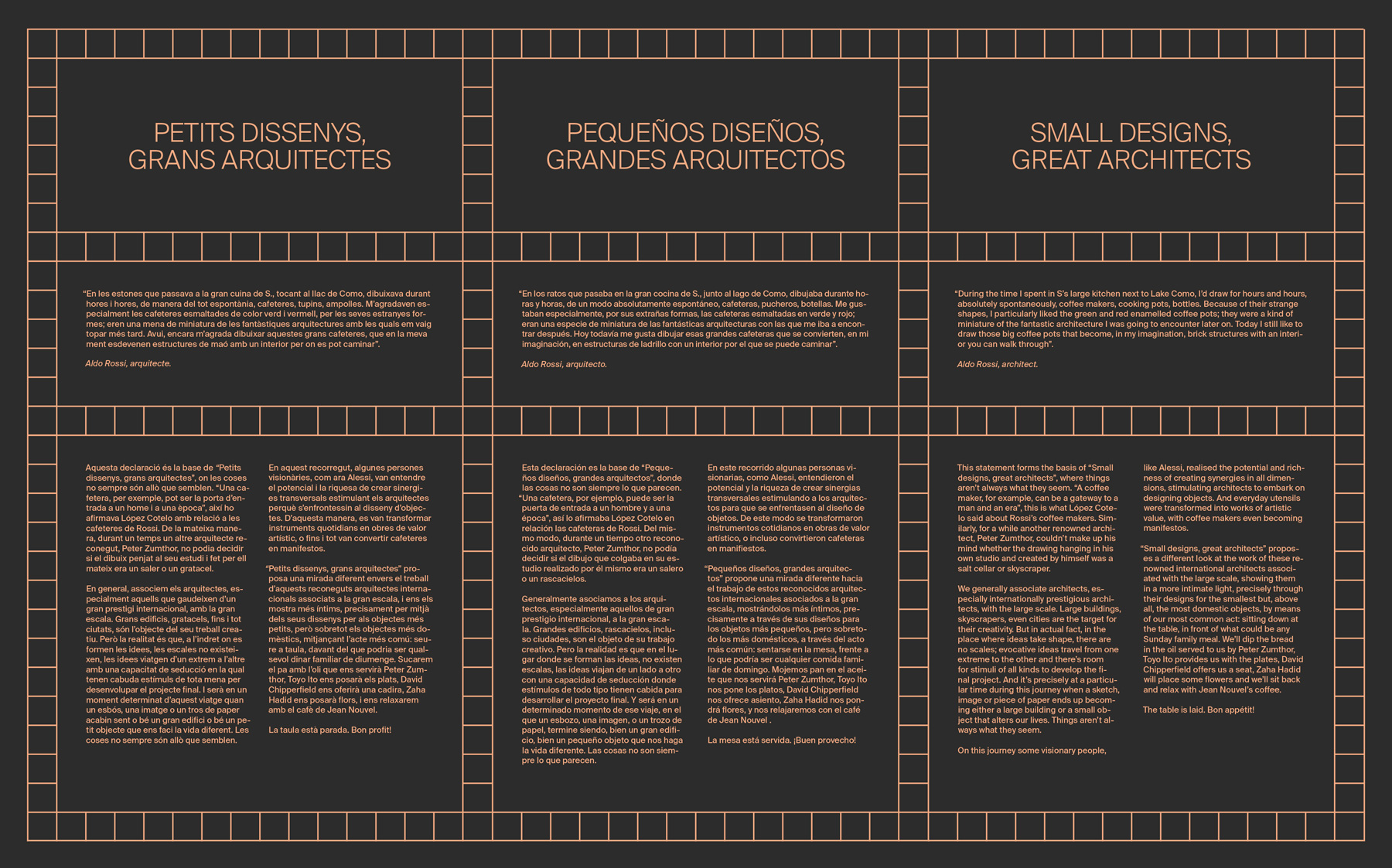 TPN—BCN, HH Small Designs Big Architects